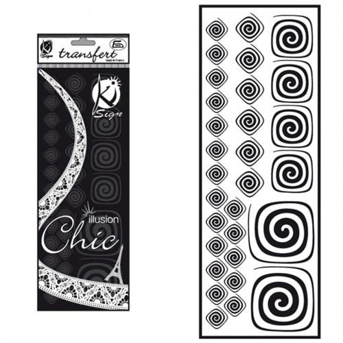 Ki-Sign Kadife Dokulu Spiral Ütüyle Yapışan Desen Kağıdı - Ksfd-06