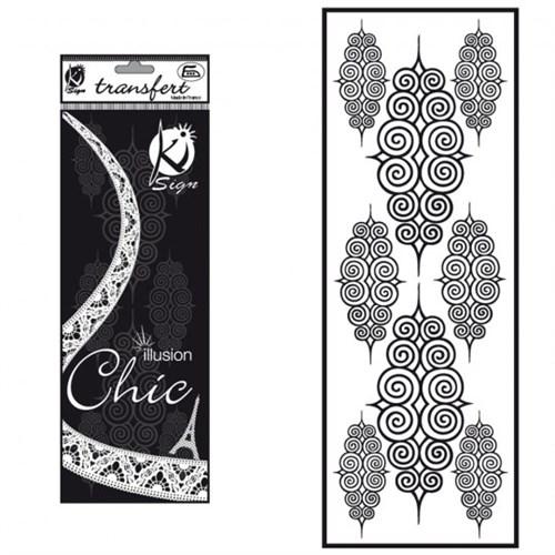 Ki-Sign Kadife Dokulu Spiral Ütüyle Yapışan Desen Kağıdı - Ksfd-10