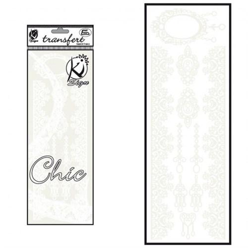 Ki-Sign Kadife Dokulu Dantel Ütüyle Yapışan Desen Kağıdı - Ksfd-25
