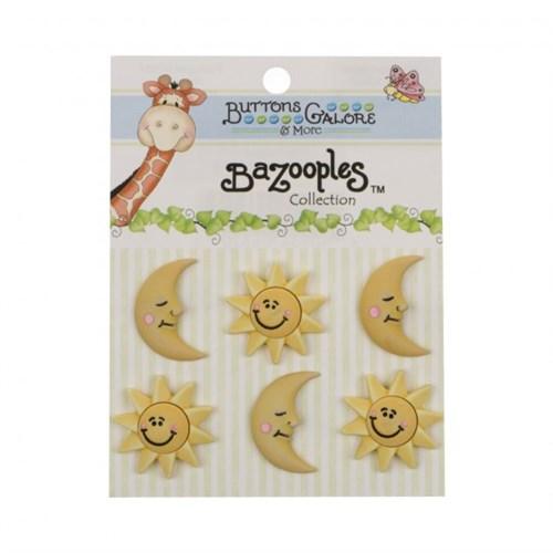 Kartopu Güneşli Ve Yıldızlı Dekoratif Düğme - Bz104