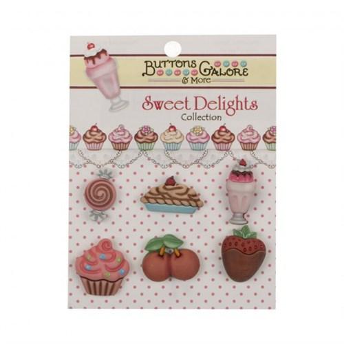 Kartopu Şekerli Meyveli Karışık Dekoratif Düğme - Sd108