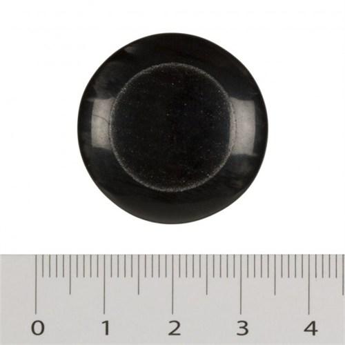 Hobium Büyük Boy İçi Yuvarlak Siyah Fantazi Düğme