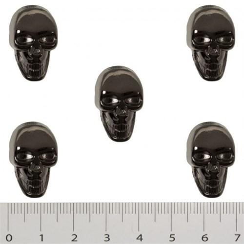 Hobium Büyük Boy Kuru Kafa Şeklinde Metal Düğme