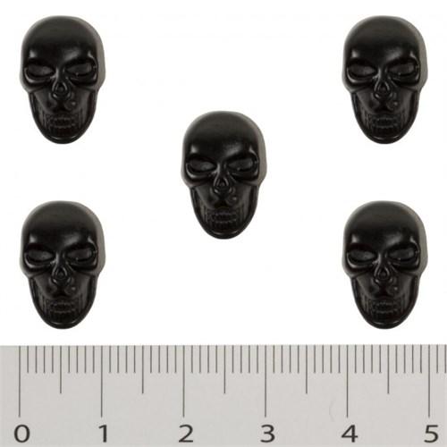 Hobium Küçük Boy Siyah Kuru Kafa Şeklinde Düğme