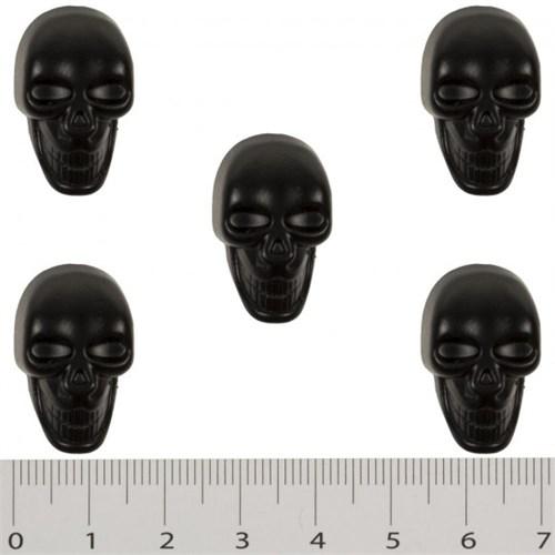 Hobium Büyük Boy Siyah Kuru Kafa Şeklinde Düğme
