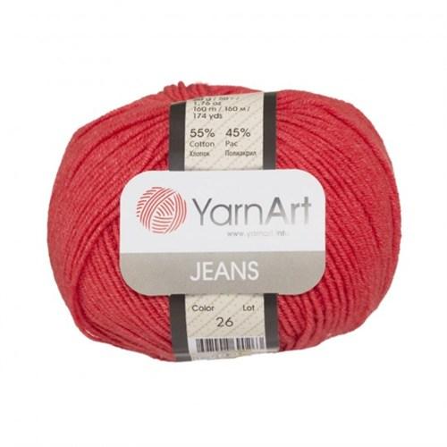 Yarnart Jeans Kırmızı El Örgü İpi - 26