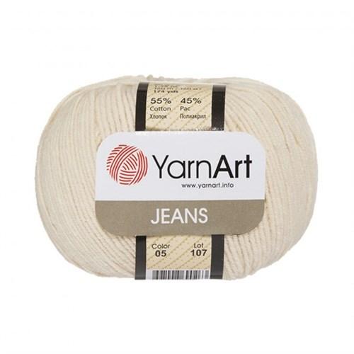 Yarnart Jeans Kırık Beyaz El Örgü İpi - 05