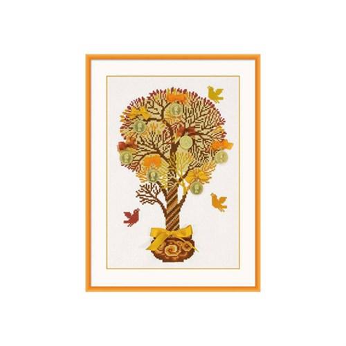 Riolis Para Ağacı Desenli Etamin Kiti - 1294