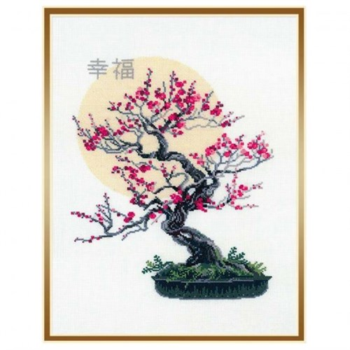 Riolis Bonsai Kiraz Çiçeği Desenli Etamin Kiti - 1036