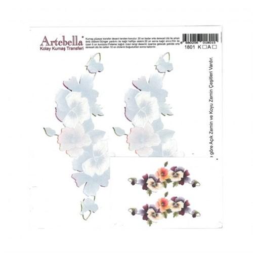 Artebella 16,5 X 17,5 Cm Boyutunda Koyu Zemin İçin Kolay Kumaş Transfer Kağıdı - 1801K