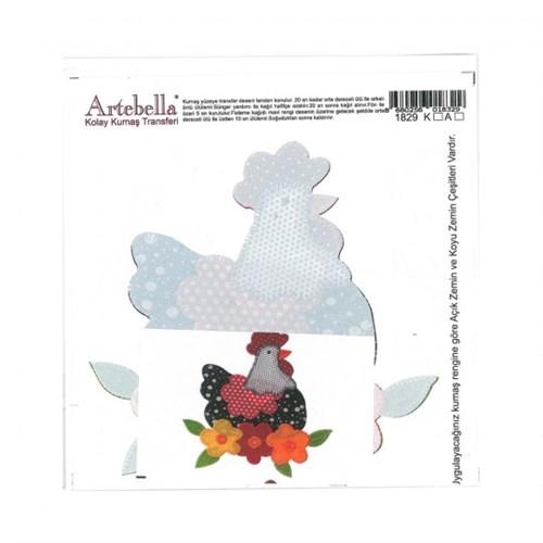 Artebella 16,5 X 17,5 Cm Boyutunda Koyu Zemin İçin Kolay Kumaş Transfer Kağıdı - 1829K