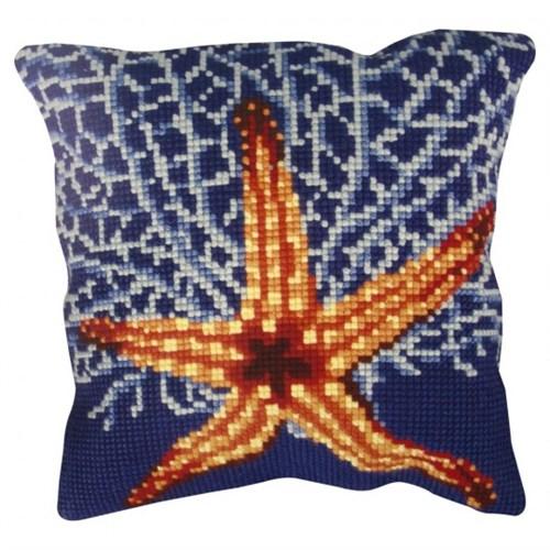 Collection D'art 40X40 Cm Deniz Yıldızı Desenli Goblen Yastık Kiti