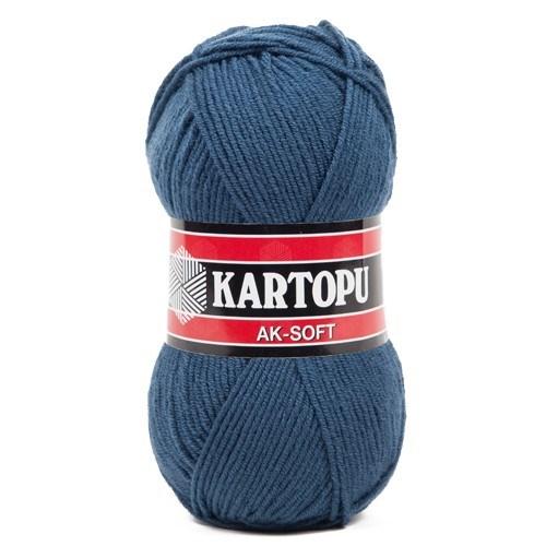 Kartopu Ak-Soft Mavi El Örgü İpi - K642