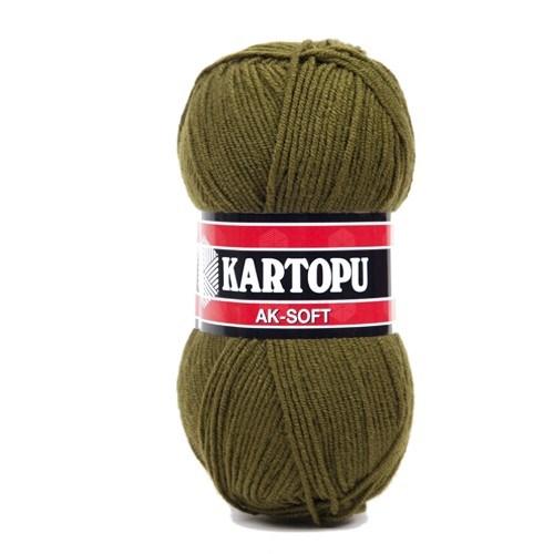 Kartopu Ak-Soft Yeşil El Örgü İpi - K410