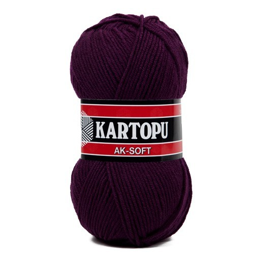 Kartopu Ak-Soft Koyu Mor El Örgü İpi - K729