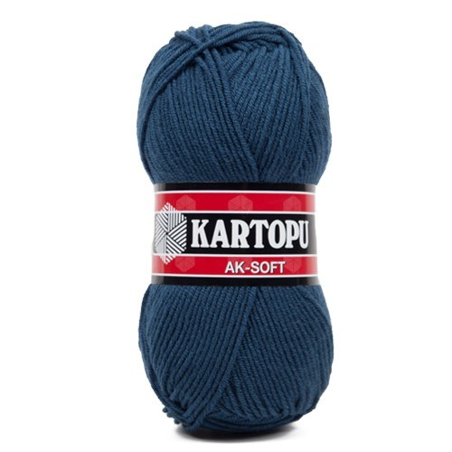 Kartopu Ak-Soft Lacivert El Örgü İpi - K657