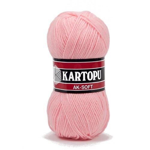 Kartopu Ak-Soft Toz Pembe El Örgü İpi - K788