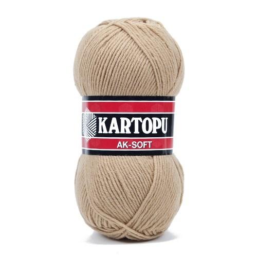 Kartopu Ak-Soft Bej El Örgü İpi - K837
