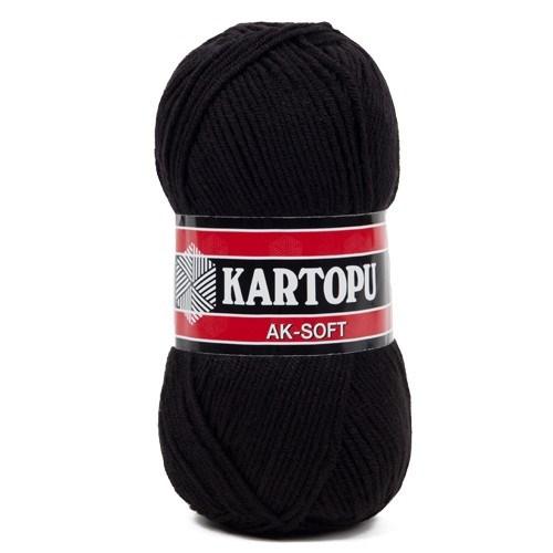 Kartopu Ak-Soft Siyah El Örgü İpi - K940