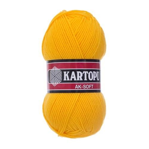Kartopu Ak-Soft Hardal Sarısı El Örgü İpi - K320
