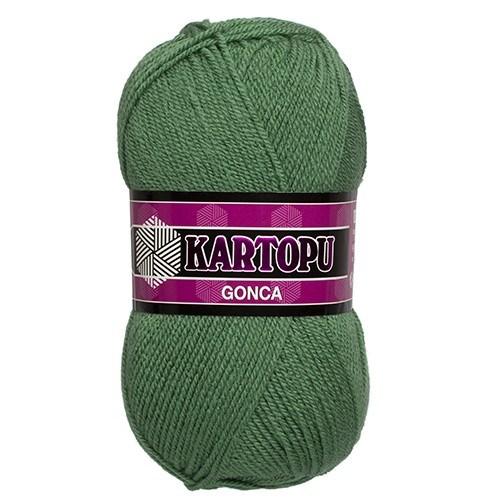 Kartopu Gonca Koyu Yeşil El Örgü İpi - K367