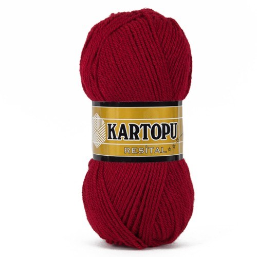 Kartopu Resital Koyu Kırmızı El Örgü İpi - K122