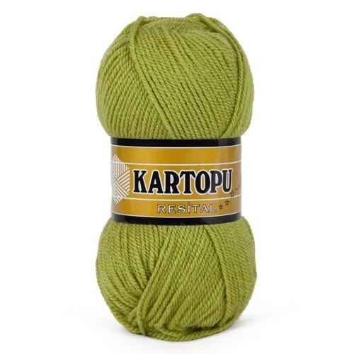 Kartopu Resital Yeşil El Örgü İpi - K442