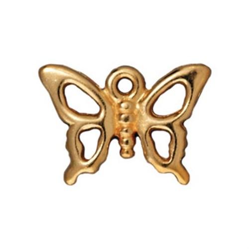 Tierra Cast 1 Adet 11.75X16.5 Mm Altın Rengi Kelebek Takı Aksesuarı - 94-2152-25