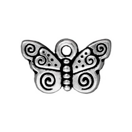 Tierra Cast 1 Adet 9.5X15.5 Mm Gümüş Rengi Kelebek Takı Aksesuarı - 94-2162-12