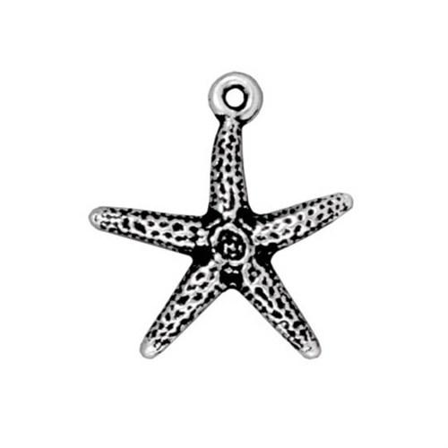 Tierra Cast 1 Adet 20X18.5 Mm Gümüş Rengi Deniz Yıldızı Takı Aksesuarı - 94-2232-12