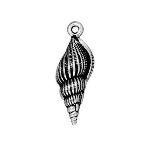 Tierra Cast 1 Adet 23.75X8.5 Mm Gümüş Rengi Deniz Kabuğu Takı Aksesuarı - 94-2233-12