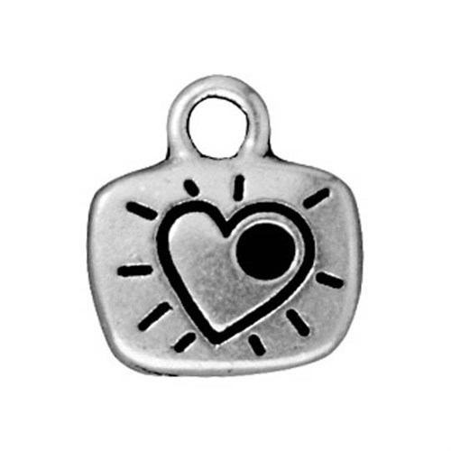 Tierra Cast 1 Adet 14.25X13 Mm Gümüş Rengi Love Takı Aksesuarı - 94-2244-12