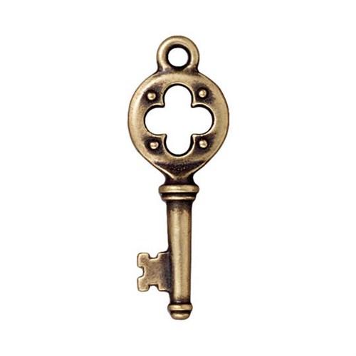 Tierra Cast 1 Adet 32.25X12 Mm Altın Rengi Yonca Anahtar Takı Aksesuarı - 94-2338-27