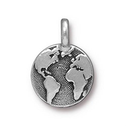 Tierra Cast 1 Adet 16.6X11.6 Mm Gümüş Rengi Dünya Takı Aksesuarı - 94-2408-12