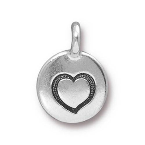 Tierra Cast 1 Adet 16.6X11.6 Mm Gümüş Rengi Kalp Takı Aksesuarı - 94-2421-12