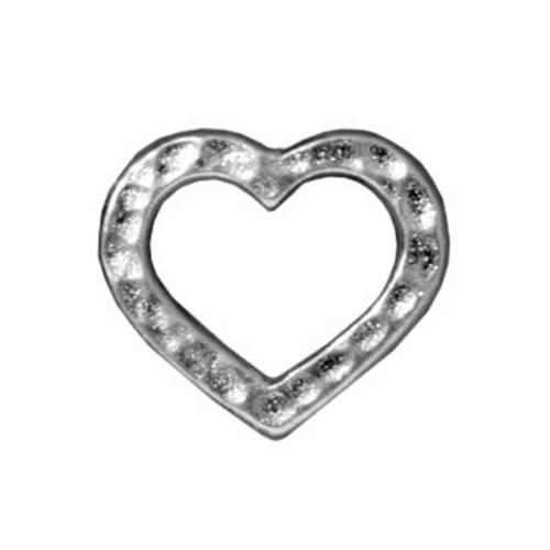 Tierra Cast 1 Adet 9.6 X 6.8 Mm Gümüş Rengi Kalp Bağlantı Aksesuarı - 94-3096-61