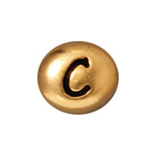 Tierra Cast Metal 1 Adet 6X6.75 Mm Altın Rengi C Harfi Aksesuar Boncuk - 94-510C-26