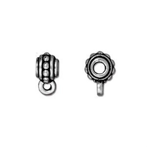 Tierra Cast Beaded 1 Adet 10X6.75 Mm Gümüş Rengi Takı Ucu Askı Aparatı - 94-5509-12
