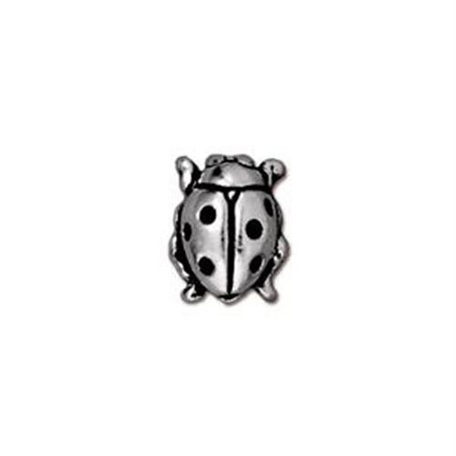 Tierra Cast Metal 1 Adet 10.25X8.25 Mm Gümüş Rengi Uğur Böceği Aksesuar Boncuk - 94-5521-12