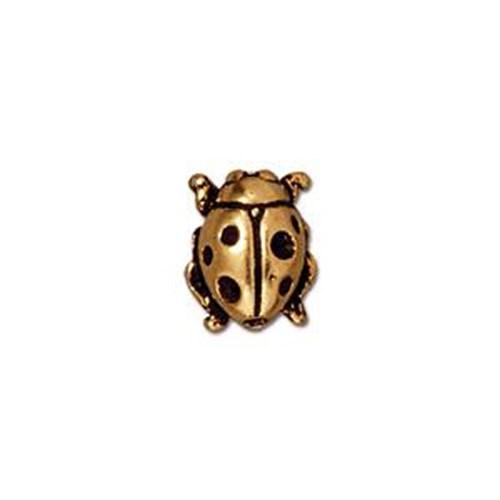 Tierra Cast Metal 1 Adet 10.25X8.25 Mm Altın Rengi Uğur Böceği Aksesuar Boncuk - 94-5521-26