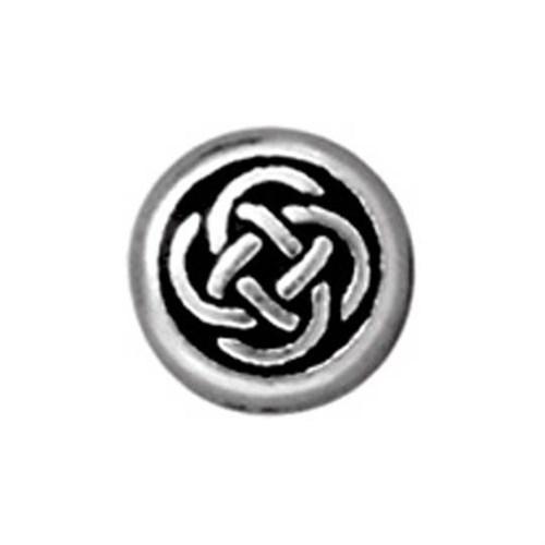 Tierra Cast Metal 1 Adet 7X7.25 Mm Gümüş Rengi Yuvarlak Boncuk - 94-5525-12