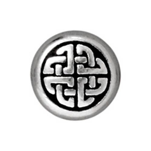 Tierra Cast Metal 1 Adet 10.25X10 Mm Gümüş Rengi Yuvarlak Boncuk - 94-5527-12