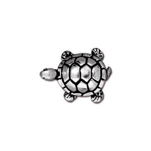 Tierra Cast Metal 1 Adet 11.75X15.25 Mm Gümüş Rengi Kaplumbağa Aksesuar Boncuk - 94-5538-12