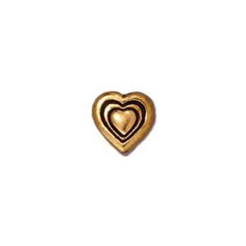 Tierra Cast Metal 1 Adet 8.25X8.25 Mm Altın Rengi Kalp Aksesuar Boncuk - 94-5545-26