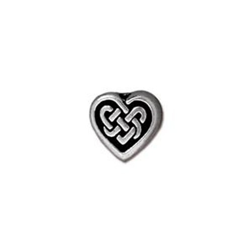 Tierra Cast Metal 1 Adet 8.75X9.5 Mm Gümüş Rengi Kalp Aksesuar Boncuk - 94-5549-12