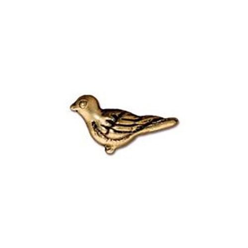 Tierra Cast Metal 1 Adet 8X14.75 Mm Altın Rengi Kuş Aksesuar Boncuk - 94-5617-26