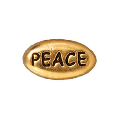Tierra Cast Metal 1 Adet 6X10.75 Mm Altın Rengi Peace Aksesuar Boncuk - 94-5643-26