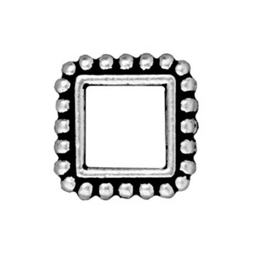 Tierra Cast 1 Adet 11.5X14.25 Mm Gümüş Rengi Kare Çerçeve Takı Ara Aksesuarı - 94-5655-12