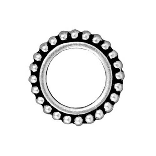 Tierra Cast 1 Adet 14.5X14.5 Mm Gümüş Rengi Yuvarlak Çerçeve Takı Ara Aksesuarı - 94-5657-12
