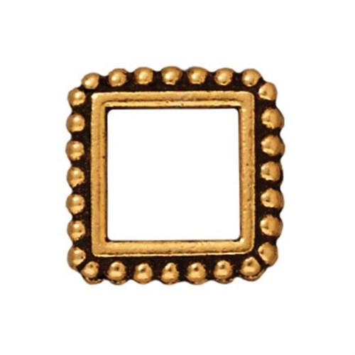 Tierra Cast 1 Adet 13.5X16.5 Mm Altın Rengi Kare Çerçeve Takı Ara Aksesuarı - 94-5658-26